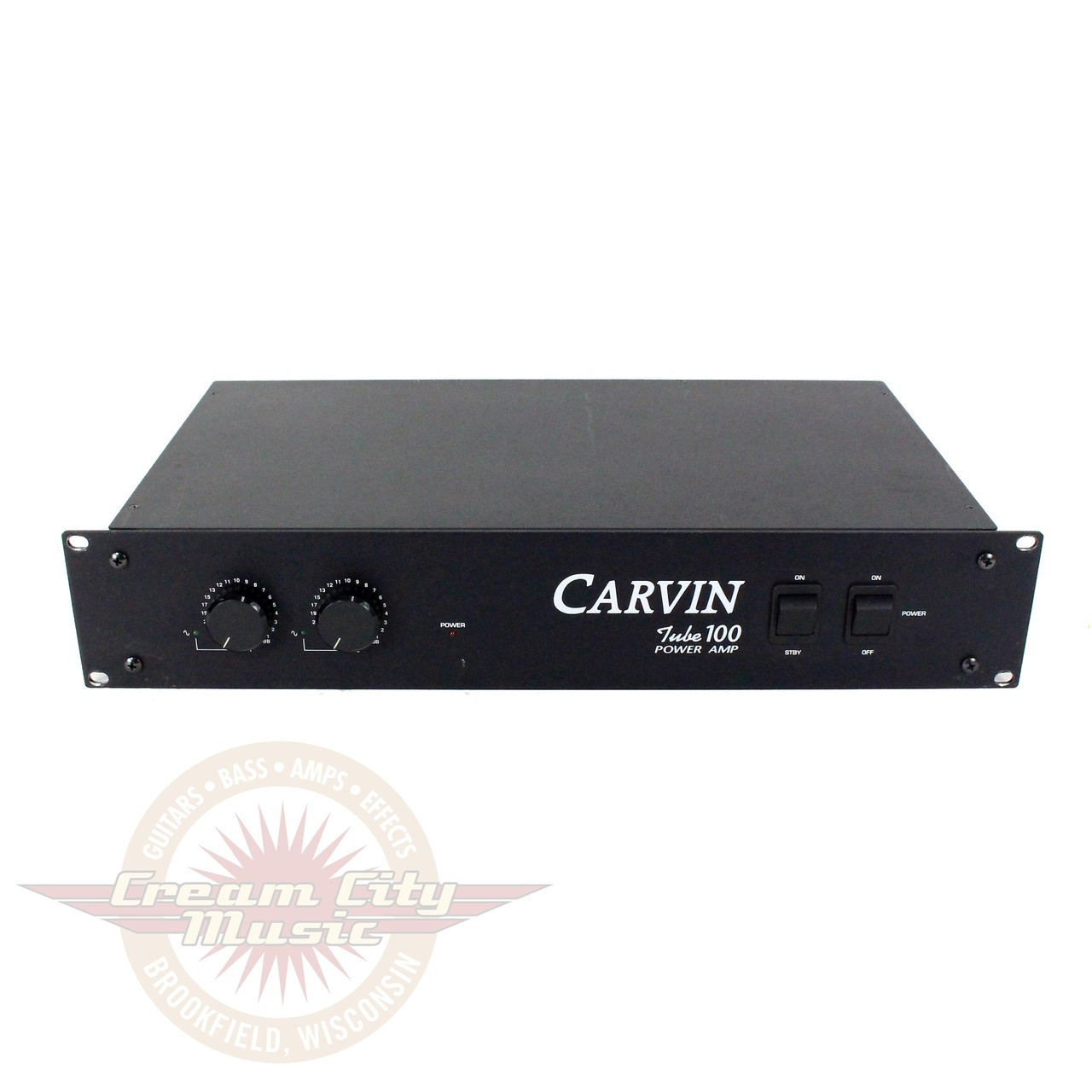 1990s Carvin T100 Tube 100 Stereo 100W Rackmount Power Amp