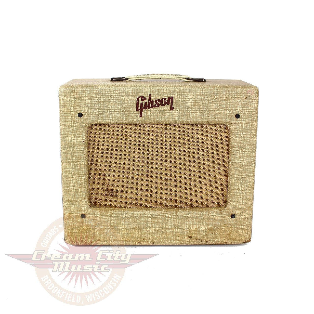 vintage 1955 gibson ga 5 les paul junior 5w tube combo amp cream city music. Black Bedroom Furniture Sets. Home Design Ideas