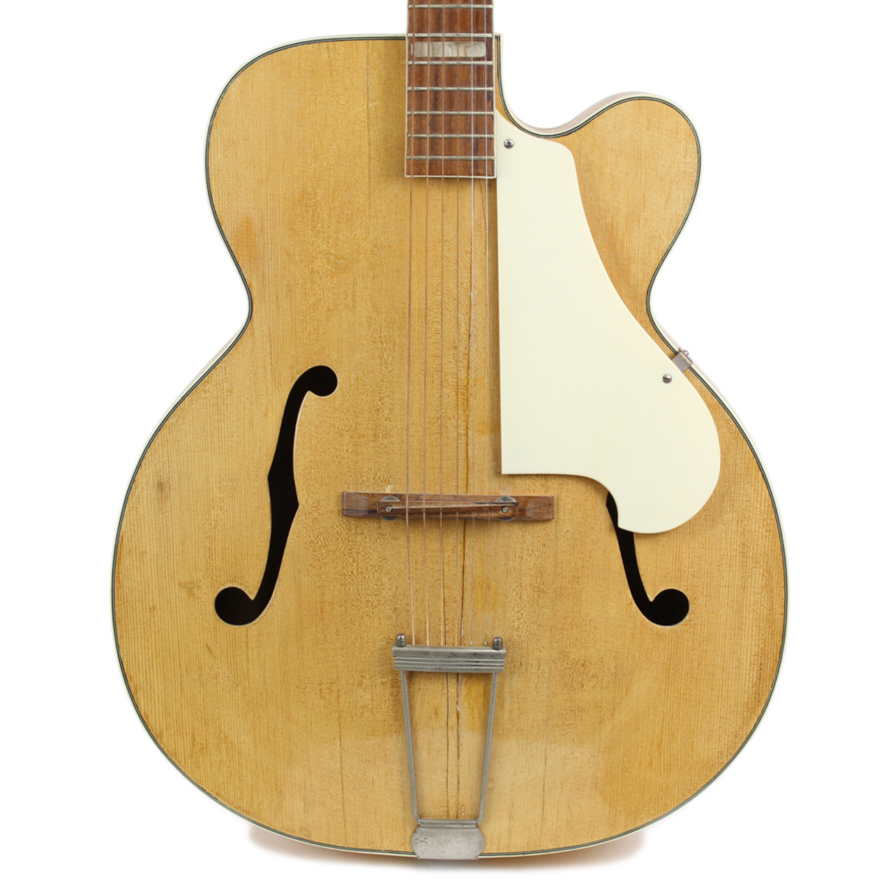 Vintage Carvin Archtop Acoustic Guitar In Natural Cream City Music