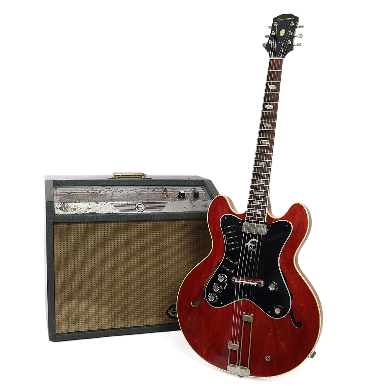vintage 1964 epiphone ea 7p professional electric guitar with matching amp cream city music. Black Bedroom Furniture Sets. Home Design Ideas