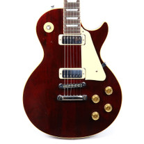 Vintage 1976 Gibson Les Paul Deluxe Electric Guitar Wine Red Finish