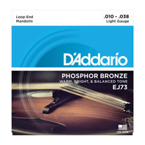D'Addario EJ73 Phosphor Bronze Light Mandolin Strings .010-.038