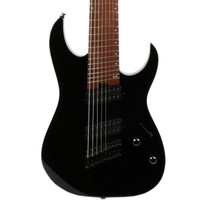 Ibanez RGMS8 Multi Scale 8 String Electric Guitar in Black