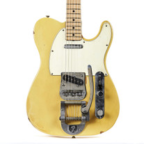Vintage 1971 Fender Bigsby Telecaster Electric Guitar Olympic White Finish