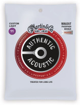 Martin MA535T Authentic Acoustic Lifespan 2.0 Custom Light Strings 11-52