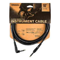 D'Addario PW-CGTRA-10 Classic Series Right-angle Instrument Cable - 10'