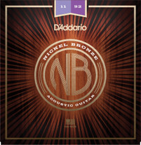D'Addario NB1152 Nickel Bronze Acoustic Strings - Custom Light 11-52