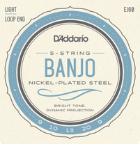 D'Addario EJ60 Nickel Wound 5 String Banjo Strings 9-20