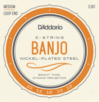 D'Addario EJ61 Nickel Wound Banjo Strings Medium 10-23