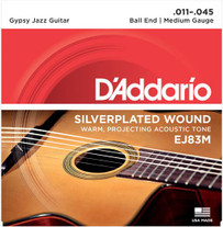D'Addario EJ83M Gypsy Jazz Silver Wound Acoustic Strings Medium 11-45