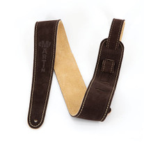 Martin Suede Leather Guitar Strap - Brown