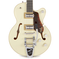 Gretsch G6659T Players Edition Broadkaster Jr. Center Block with Bigsby - Two-Tone Lotus Ivory Walnut Stain