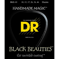 DR Strings BKE-10 Black Beauties K3 Coated Electric Guitar Strings 10-46