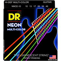 DR Strings NMCE-10 Hi-Def Neon Multi-Color K3 Coated Electric Guitar Strings 10-46