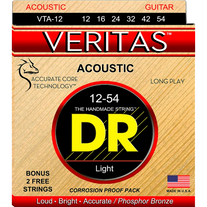 DR Strings VTA-12 Veritas Custom Light Phosphor Bronze Acoustic Strings 12-54