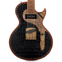 Paoletti Richard Fortus Signature HB Jr. - Black Leather Croc Top