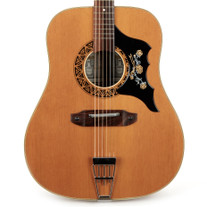 Used Vintage EKO Lo Duca Flat Top Acoustic Dreadnought Natural Made In Italy