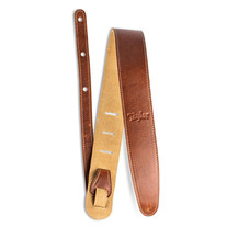 """Taylor Leather 2.5"""" Guitar Strap with Suede Back - Medium Brown"""