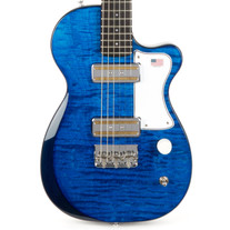 Harmony Juno Figured Flame Maple Top - Transparent Blue