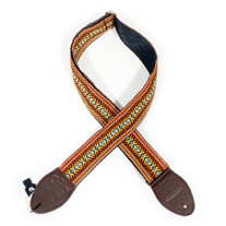 """Souldier """"Buffalo Souldier"""" Guitar Strap CCM Exclusive Pattern - Black with Warm Brown Ends"""