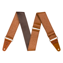 """Fender Tooled Leather Guitar Strap 2"""" - Brown"""