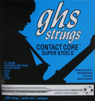 """GHS M5200 Contact Core Super Steels 34"""" Bass Strings - 45-105"""