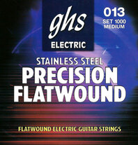 GHS 1000 Precision Flats Stainless Electric Strings Medium - 13-54