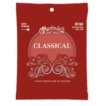 Martin M160 Classical Silverplated Ball End Nylon Strings - 28-43