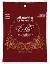 Martin M265 Normal Tension Silver Plated Nylon Guitar Strings - 25-42