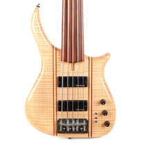 Used US Masters 5-String Fretless Bass Natural Flame Maple