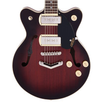 Gretsch G2655-P90 Streamliner Center Block Jr. Double-Cut with V-Stoptail - Claret Burst