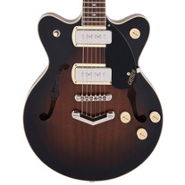 Gretsch G2655-P90 Streamliner Center Block Jr. Double-Cut with V-Stoptail - Brownstone