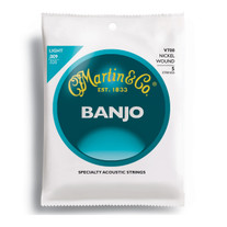 Martin V700 Vega Silvered Steel / Nickel Wound Banjo Strings Light .009-.020