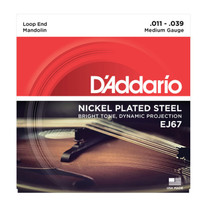 D'Addario EJ67 Nickel Mandolin Strings .011-.039