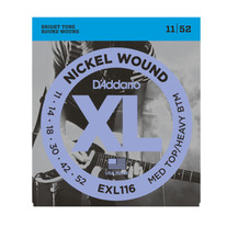 D'Addario EXL116 XL Medium Top/Heavy Bottom .011-.052 Electric Guitar Strings