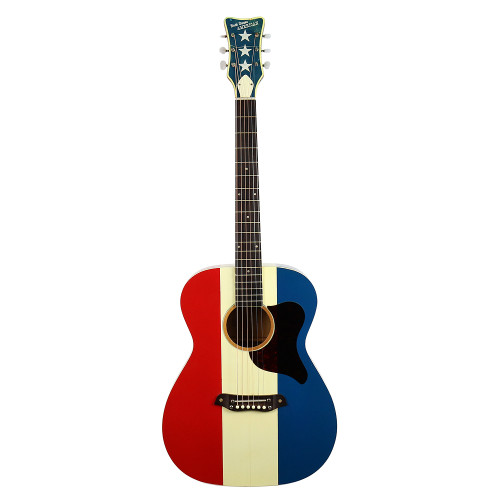 Vintage 1970 Harmony Buck Owens American Acoustic Guitar Red White