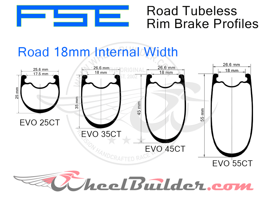 Custom FSE Road Rim Brake Wheels