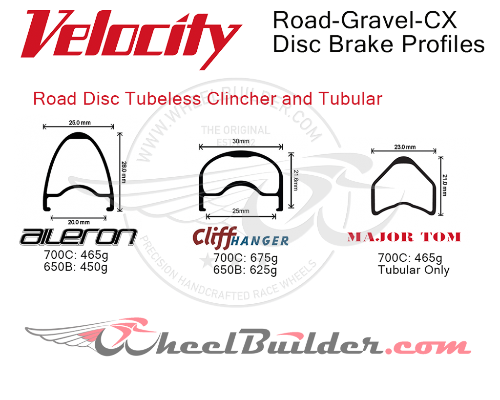 Velocity Road Disc Brake Rim Profiles