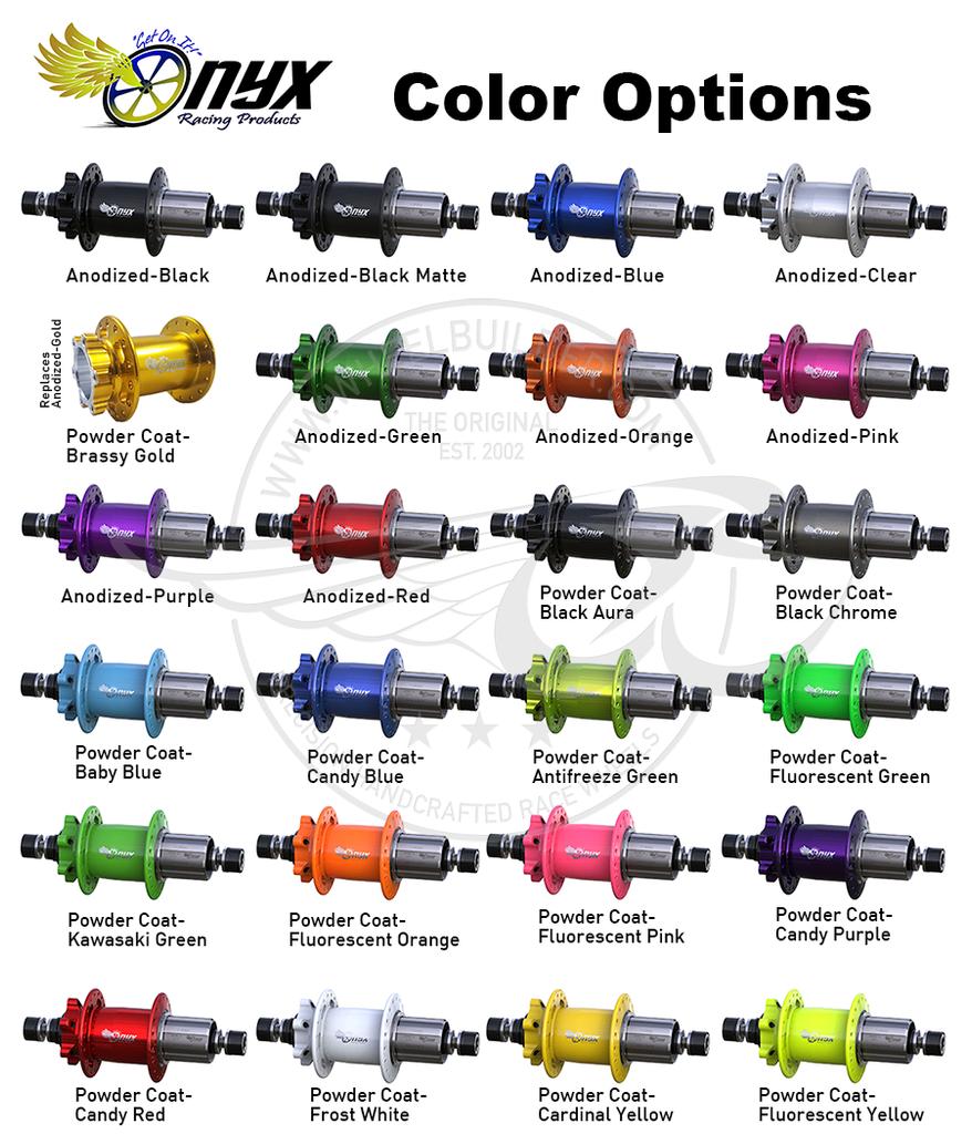 Onyx hub color options