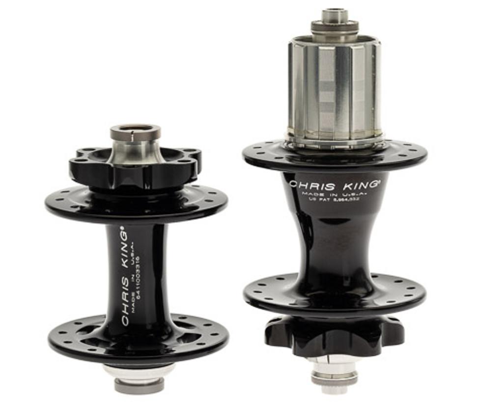 Chris King R45 ISO 6-Bolt Hub Set 24H/28H Black