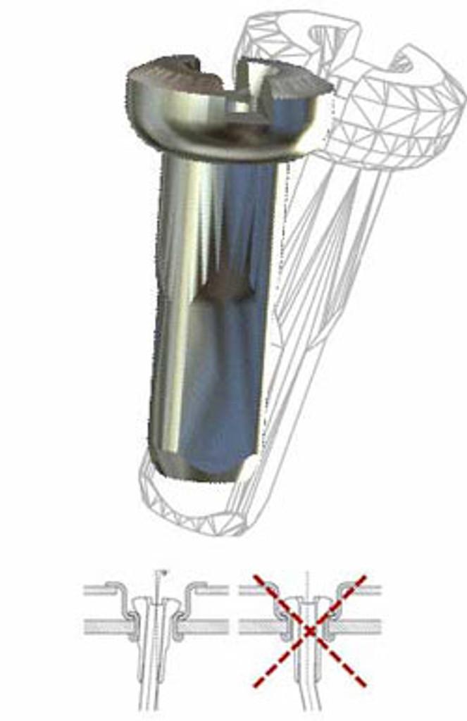 Sapim Self Locking Polyax Aluminum Nipples