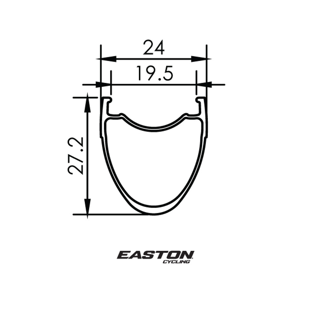 Easton R90 SL Disc Tubeless Clincher Rim