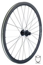 FSE EVO 35CT Road Tubeless Clincher with PoweTap G3 hub, DT Aerolite spokes black and white