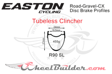 Easton R90 SL Road Disc Brake Rim Profile