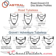 Custom Astral Road-Gravel-CX Disc Brake Wheels
