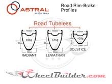 Custom Astral Road Rim Brake Wheels
