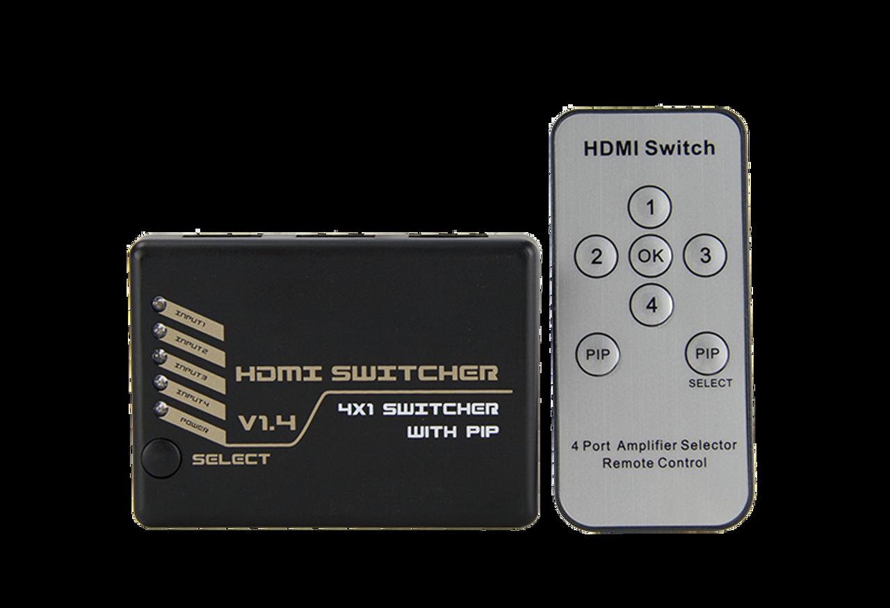 HDMI 4K2K Switch W/ Pip 4 In 1 Out And 4Kx2K (300MHz) With