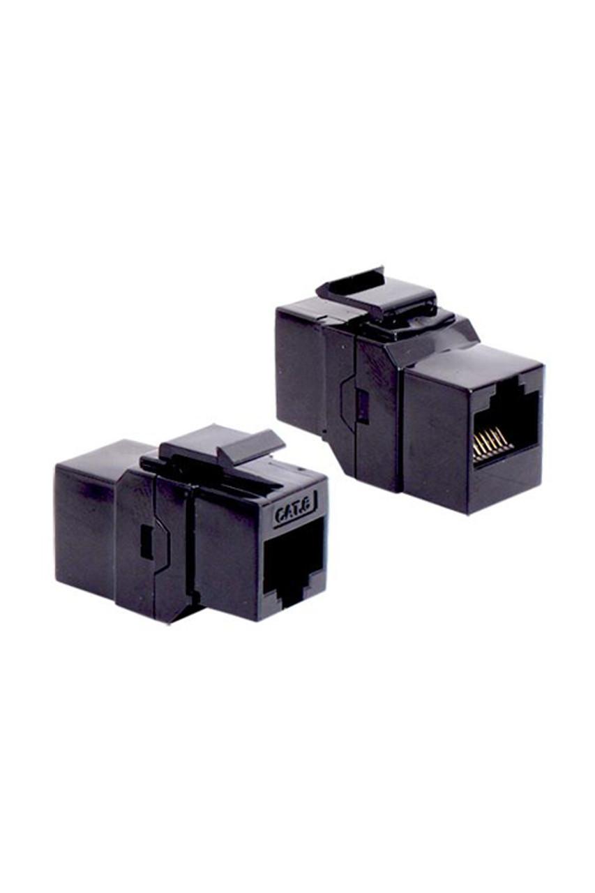 cat 6 rj45 coupler keystone black - p2363-b60