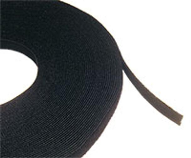 Cable Tie 'hook & loop' 25m Roll Blk Black Colour - C1035BLK