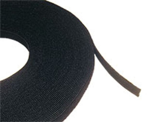 Cable Tie 'hook & loop' 25m Roll Blk Black Colour - C1035BLK